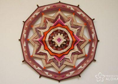 mandala de lana, ojo de dios, calma, tranquilidad, relax, meditacion, fenshui