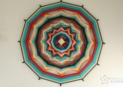 Proyecto Aloha, mandalas de lana, Tzicuri, ojos de dios, atención plena, mindfulness