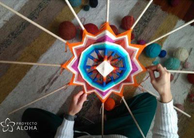 Proyecto Aloha, mandalas de lana, ojos de dios, Tzicuri, Arte sagrado