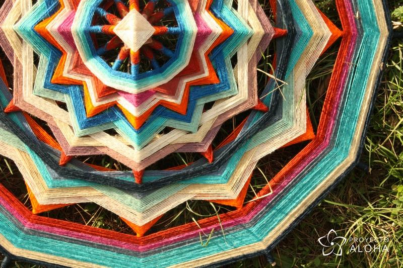 Proyecto Aloha, mandalas de lana, ojos de dios, Tzicuri, conciencia plena, meditación activa