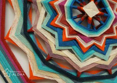 Tzicuri mandalas de lana, ojos de dios, Proyecto Aloha, yarn mandala, espiritu Aloha